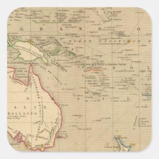L'Oceanie en 1841 Square Sticker