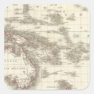 L'Oceanie - Oceania Square Sticker