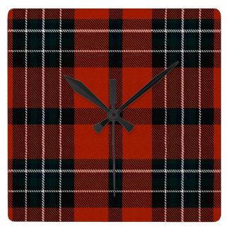 Loch Ailsh Plaid Square Wall Clock
