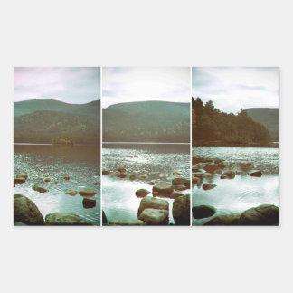 Loch an Eilein in an unusual view. Rectangular Sticker