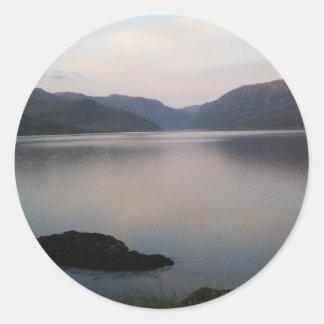 Loch Assynt, Sutherland Classic Round Sticker