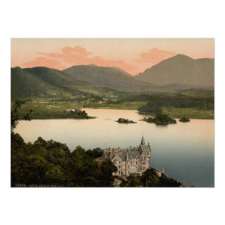 Loch Awe and Ben Lui, Argyll and Bute, Scotland Poster