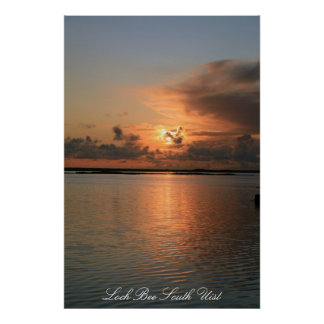 Loch Bee South Uist Poster