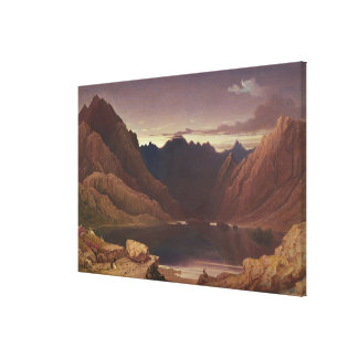 Loch Coruisk, Isle of Skye - Dawn, c.1826-32 (w/c Canvas Print