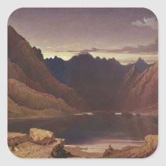 Loch Coruisk, Isle of Skye - Dawn, c.1826-32 (w/c Square Sticker
