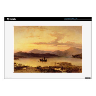 Loch Etive, from Bonawe - Evening, 1875 (oil on ca Laptop Decal