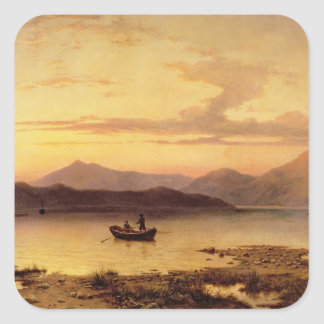 Loch Etive, from Bonawe - Evening, 1875 (oil on ca Square Sticker
