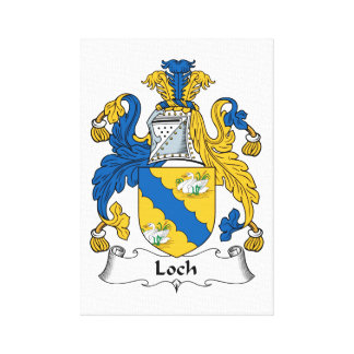 Loch Family Crest Stretched Canvas Print