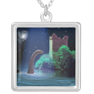 Loch Ness 2 Square Pendant Necklace