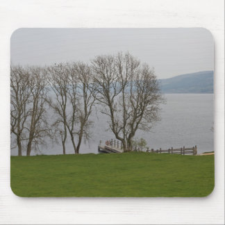 Loch Ness and boat jetty near Urquhart Castle Mouse Pad