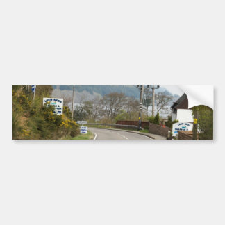 Loch Ness and highway next to it Car Bumper Sticker