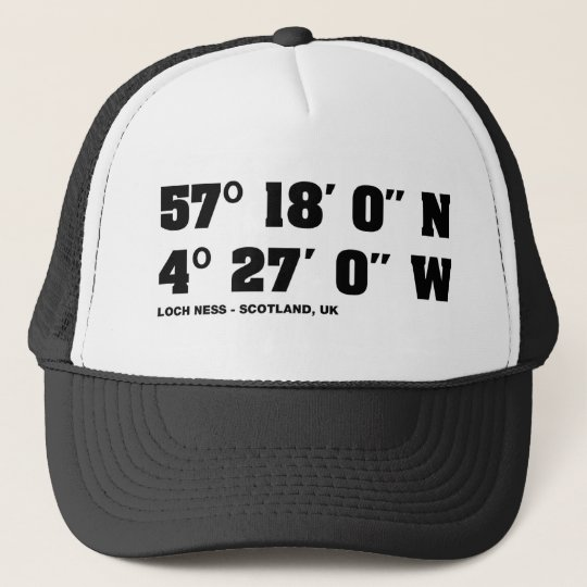 Loch Ness - Co-ordinates design Trucker Hat
