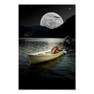 Loch Ness Collage Poster