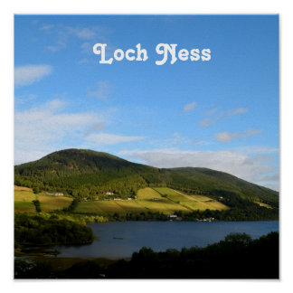 Loch Ness in Scotland Poster