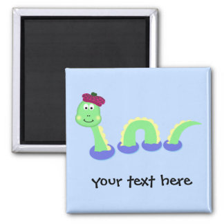 Loch Ness Monster 2 Inch Square Magnet