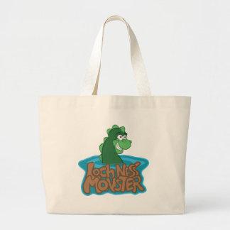 Loch Ness Monster Cartoon Jumbo Tote Bag