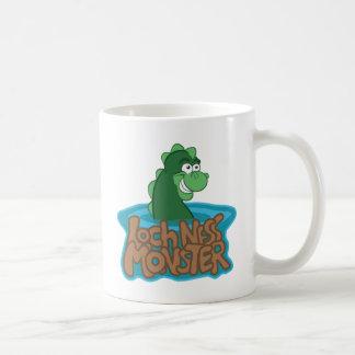 Loch Ness Monster Cartoon Classic White Coffee Mug