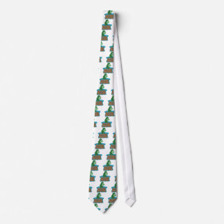 Loch Ness Monster Cartoon Neck Tie