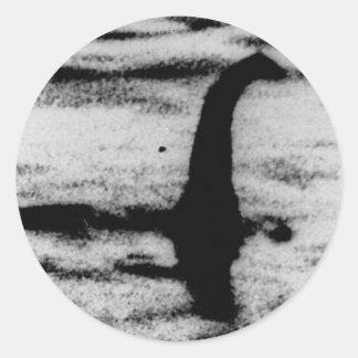 Loch Ness Monster Classic Round Sticker