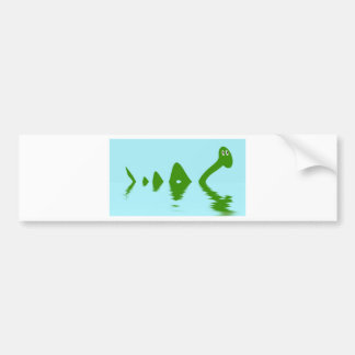 Loch Ness Monster (Green) Bumper Sticker