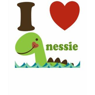 Loch Ness Monster I Heart Nessie Girls Tee Shirt shirt