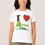 Loch Ness Monster I Heart Nessie Girls Tee Shirt