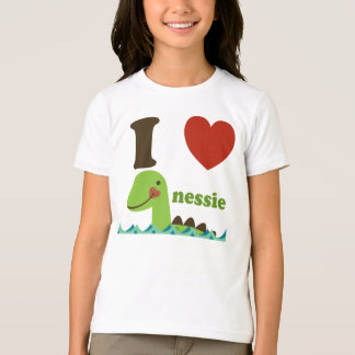 Loch Ness Monster I Heart Nessie Girls Tee Shirt