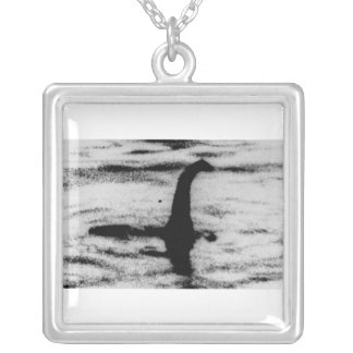 Loch Ness Monster Square Pendant Necklace