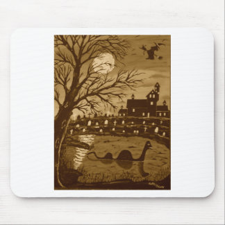 Loch Ness Monster On Halloween Mouse Pad