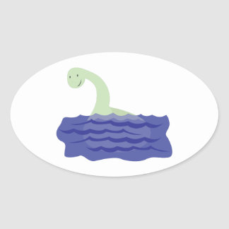Loch Ness Monster Oval Stickers
