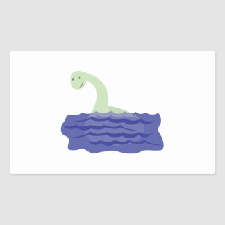 Loch Ness Monster Rectangle Stickers