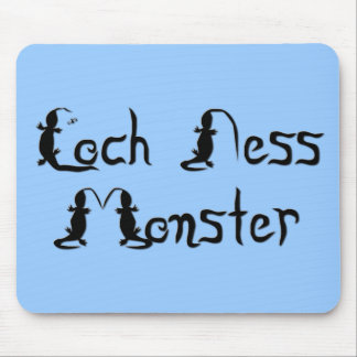 Loch Ness Monster Text Mouse Pad