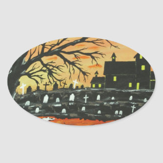 Loch Ness Monster This Halloween Oval Sticker