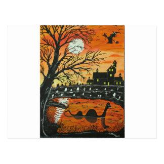 Loch Ness Monster This Halloween Postcard