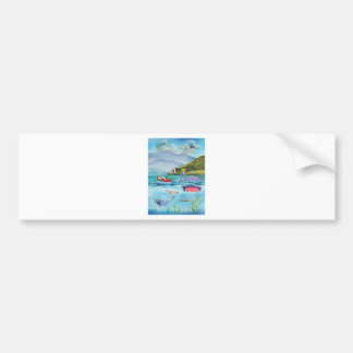 Loch Ness monster underwater painting G BRUCE Bumper Sticker