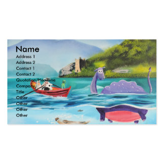 Loch Ness monster underwater painting G BRUCE Double-Sided Standard Business Cards (Pack Of 100)