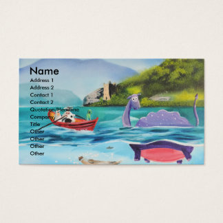 Loch Ness monster underwater painting G BRUCE Business Card
