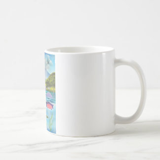 Loch Ness monster underwater painting G BRUCE Coffee Mug