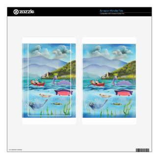 Loch Ness monster underwater painting G BRUCE Kindle Fire Decals