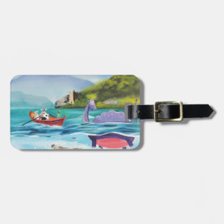 Loch Ness monster underwater painting G BRUCE Luggage Tag