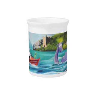 Loch Ness monster underwater painting G BRUCE Pitchers