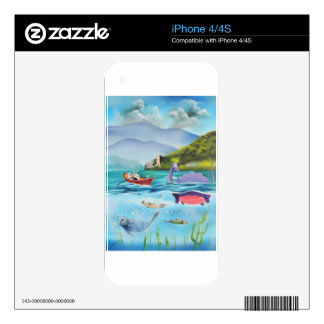Loch Ness monster underwater painting G BRUCE Skins For The iPhone 4S