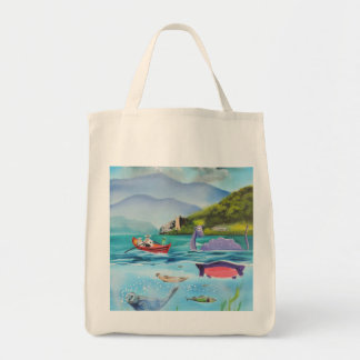 Loch Ness monster underwater painting G BRUCE Tote Bag