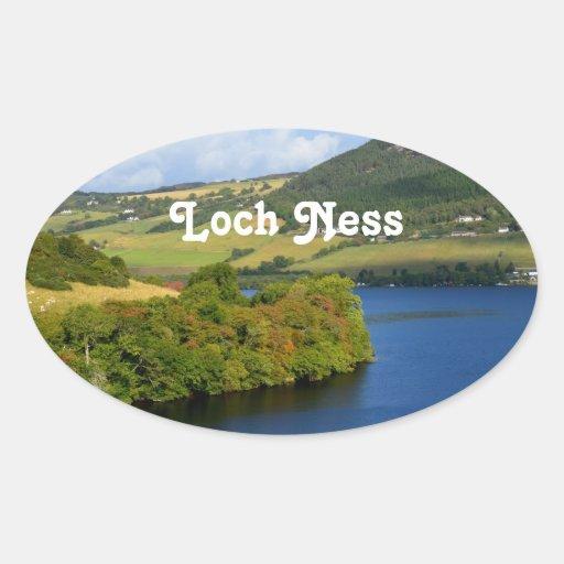 Loch Ness Calcomanía Óval