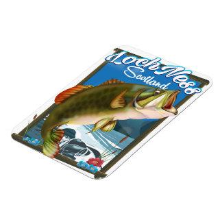 Loch Ness Scotland Fishing travel poster Magnet