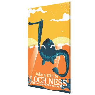 Loch Ness Scotland highlands vintage monster Canvas Print