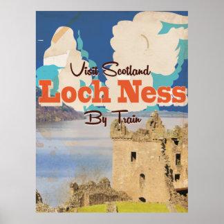 Loch Ness Vintage Travel poster