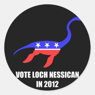 Loch Nessican Classic Round Sticker