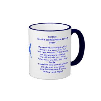 Loch Nessie Monster Mug! Ringer Coffee Mug