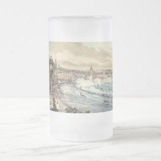Loch Promenade I, Douglas, Isle of Man, England Frosted Glass Beer Mug